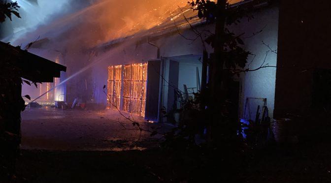 Einsatz Brand landwirtschaftliches Gebäude